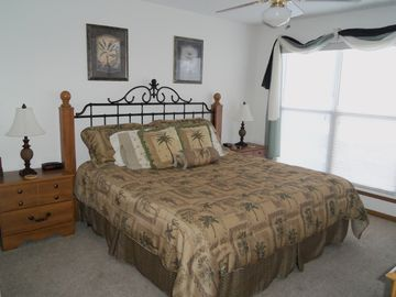 Master bedroom with King Bed, adjoining bath and awesome view of the lake!!