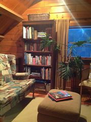 Library Loft includes area maps & brochures, puzzles & games - Kennebunk house vacation rental photo