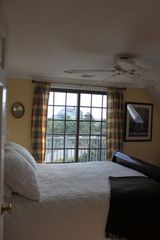 Sagamore Beach house photo - 2nd floor bedroom with skylight, balcony, 2 closets, and wood stove