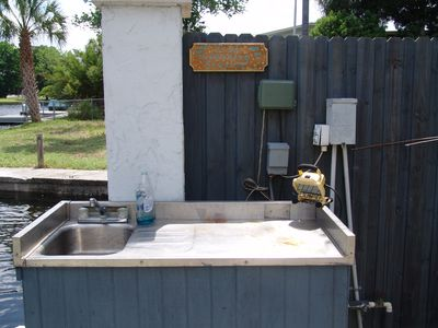 Crystal River house rental - Fish Cleaning Area Located by the docks