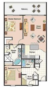 Lake Town Wharf condo rental - Floor Plan
