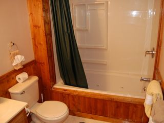 Gatlinburg chalet photo - Upstairs Has Full Bath with Whirlpool / Shower Combo