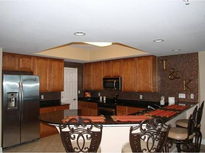 A fully equipped Kitchen-everything needed for dining in w/ 6 place dining table