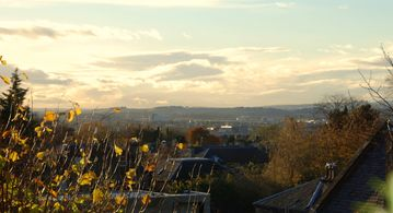 View over Edinburgh city from the kitchen. Many stunning sunsets too.