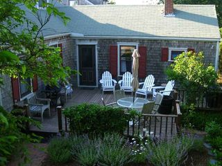 Nantucket Town cottage photo - Large Deck - Full Sun all afternoon