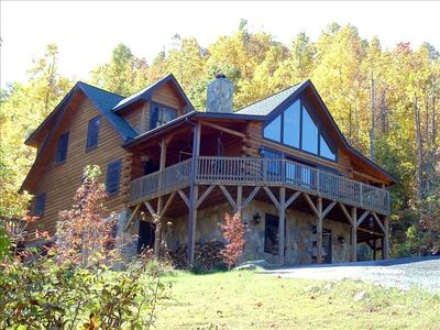 The Lodge sits on 2 acres of private mountain land with great views.