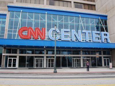 Global headquarters of CNN and Turner Broadcasting, OMNI hotel with many restrs.
