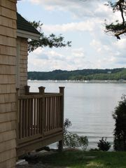 Wiscasset cottage photo - View from side porch out across to Wiscasset Harbor.