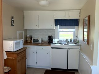 Yarmouth cottage photo - Fully equipped kitchen with stove top, refrigerator, microwave, toaster oven etc