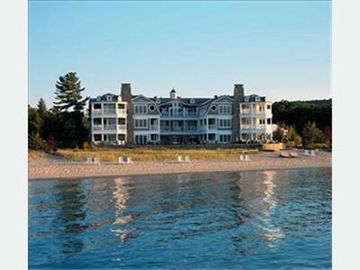 Glen Arbor condo rental - View of LeBear Resort from Lake Michigan