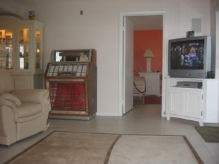 Melbourne Beach condo photo - Living Room - Television - VCR/DVD - JukeBox