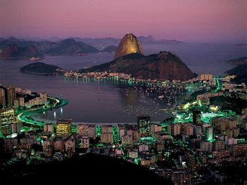 Rio de Janeiro at night - the most beautiful city in the world