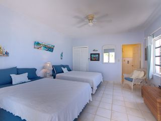 North Palmetto Point villa photo - The Downstairs Bedroom with entrance to the ensuite 3/4 bathroom