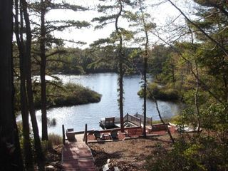The ultimate lakeside vista homeaway long pond for Long pond pa cabin rentals