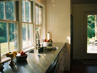 Tiverton farmhouse photo - Kitchen overlooking back yard