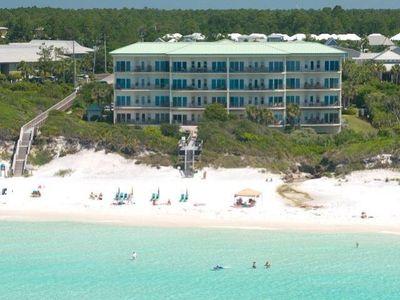 Aerial view of condo taken from beach.Condo on 3rd floor overlooking gulf.