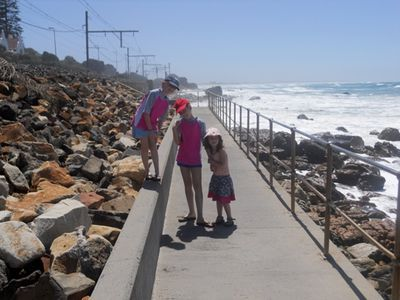 Walkway to St. James pool and Muizenberg beach