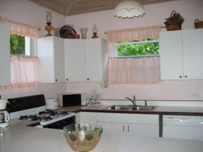 Kitchen with gas stove, refrigerator  wirh ice maker & dishwasher.