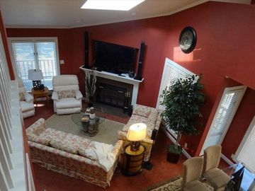 Lake Ouachita condo rental - View of Living Area from Loft