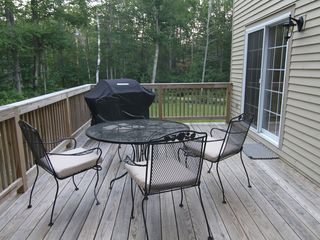 Wilmington house photo - Large deck overlooking Green Moutain National Forest