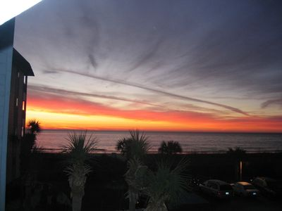 Sunrise from your balcony!