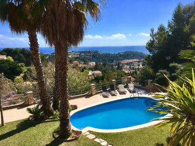 Holiday house with pool and sea views + garden for 4 pers. Costa Brava (Lloret)