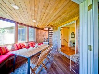 Gayhead - Aquinnah house photo - Screened Porch Offers Additional Outdoor Dining & Entertaining Space With Water Views