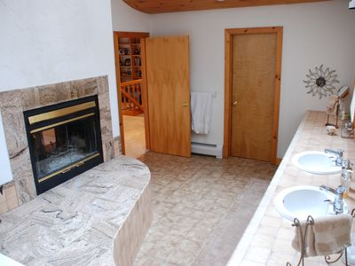 Master Bath with Jacuzzi Tub and Fireplace