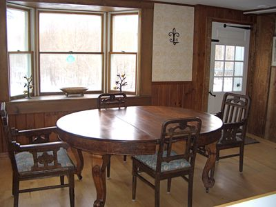 Dining area, with table that expands to seat 14
