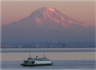 Sitting right on Puget Sound with this view of Mt. Rainier!  WOW!