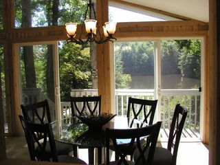 Brevard cottage photo - Dining room with view of the lake