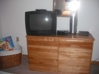 North Conway condo photo - TV with DVD player and movies provided.