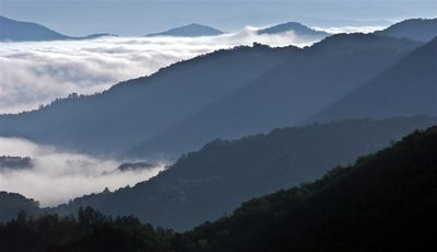 Smoky Mountain View above the clouds, taken from the deck by a previous renter
