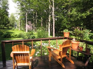 Front deck and Flowers - Claryville cabin vacation rental photo