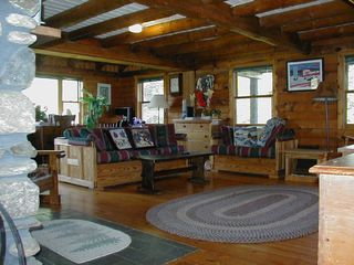 Eden property rental photo - Larkspur Log Home Living Room