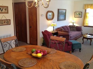 "Cherokee Village cottage rental - Cozy living/dining space. Living space equipped with 32"" LCD/TV, cable & DVD."