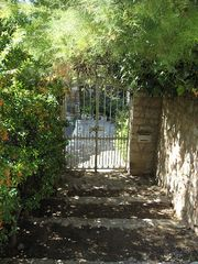 Montfort castle photo - Lower entrance to property leading to historical village.
