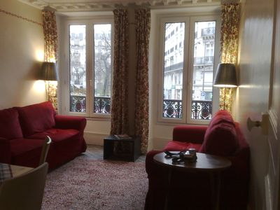 .9th Opera apartment rental - Main lounge paris apartment View of park