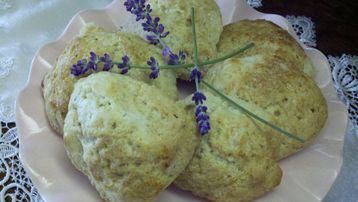 Lavender Scones from The Artist's Inn - the Cottage is stocked for breakfast