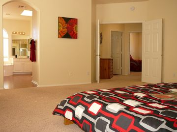 Master suite, on upper floor