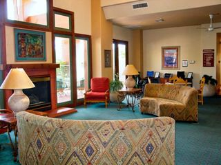 Sedona condo photo - Lobby with Fireplace at the Sedona Summit Resort
