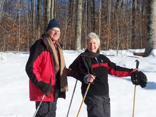 Manchester cottage photo - Ron and Anne enjoying some X-Country Skiing