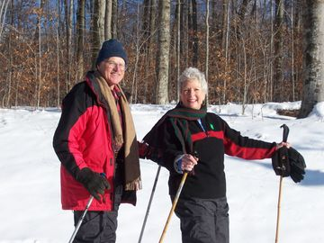 Ron and Anne enjoying some X-Country Skiing