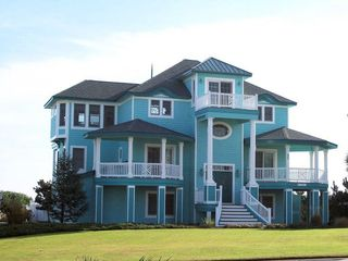 "Corolla house photo - Newly painted in Turquoise - we used to be ""the Pink House"" !"