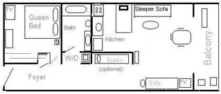 Forest Beach condo photo - Condo Layout Diagram