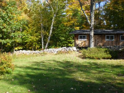 Silver Lake cabin rental - From the fire pit