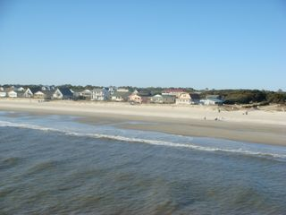 Oak Island cottage photo - looking at beach access from OKI pier