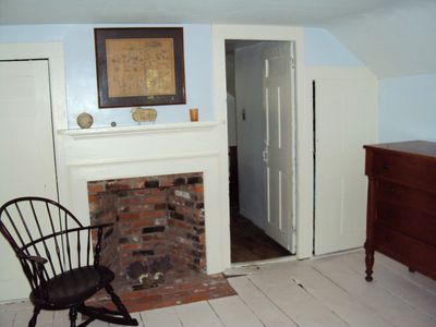 King bedroom fireplace
