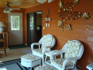 Seating area in four season sun room
