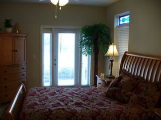 Crystal Beach house photo - 1st Floor Queen Bedroom with Full Bath - Main House